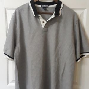 Lands End Gray XL polo shirt short sleeve  3D